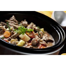 Lamb casserole with black pudding